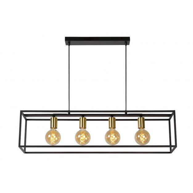 Lucide Ruben - hanglamp - 92 x 22 x 152 cm - zwart