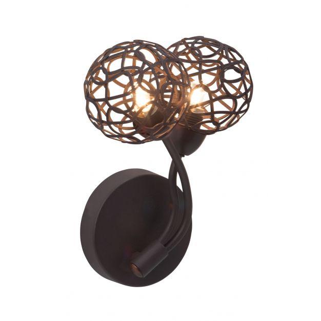 Virgo wandlamp - bruin