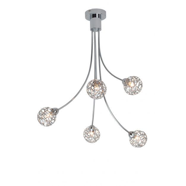 Virgo plafondlamp 5 - chroom