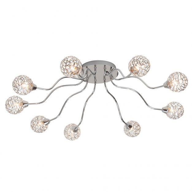 Virgo plafondlamp 9 - chroom
