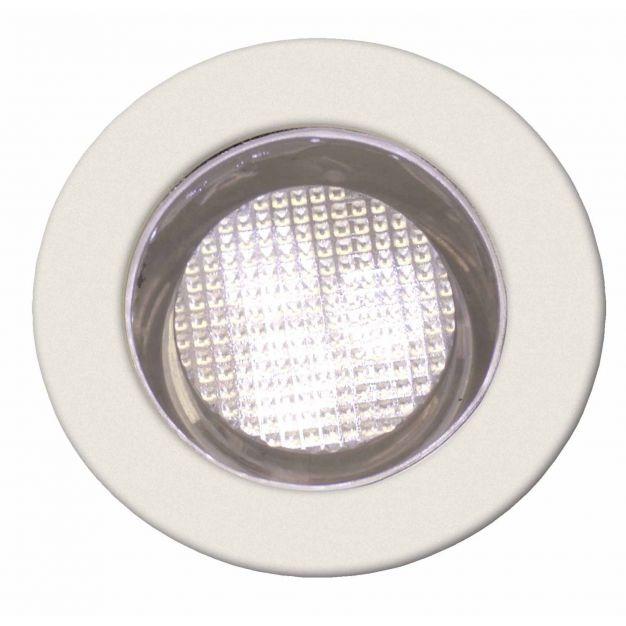 Brilliant Kozi 30 - set van 10 - inbouwspots - Ø 30 mm, Ø 22 mm inbouwmaat - 0,15W LED incl. - IP44 - warm wit