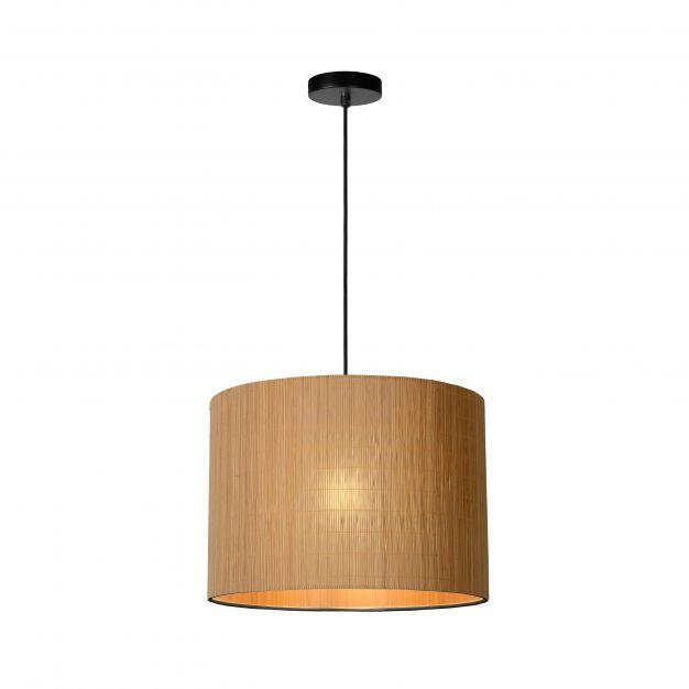 Lucide Magius - hanglamp - Ø 42 x 160 cm - lichtbruin en zwart