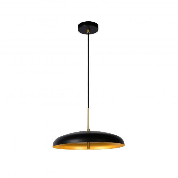 Lucide Elgin - hanglamp - Ø 38 x 157 cm - zwart en goud