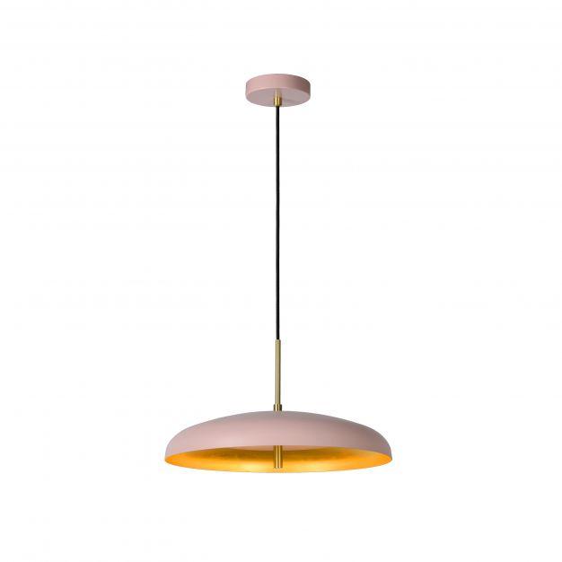 Lucide Elgin - hanglamp - Ø 38 x 157 cm - roze en goud