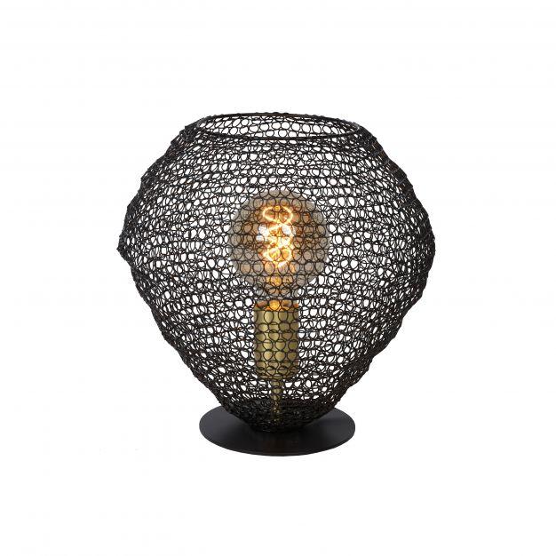 Lucide Saar - tafellamp - Ø 18 x 22 cm - zwart