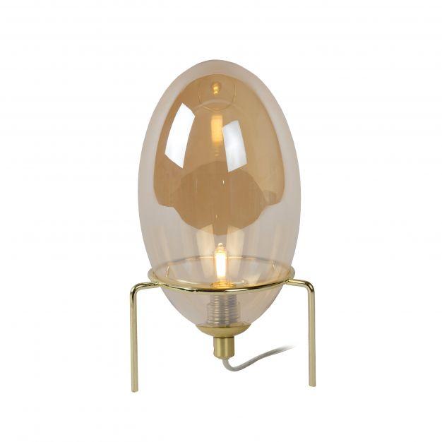 Lucide Extravaganza Bellister - tafellamp - Ø 13 x 29 cm - amber en goud