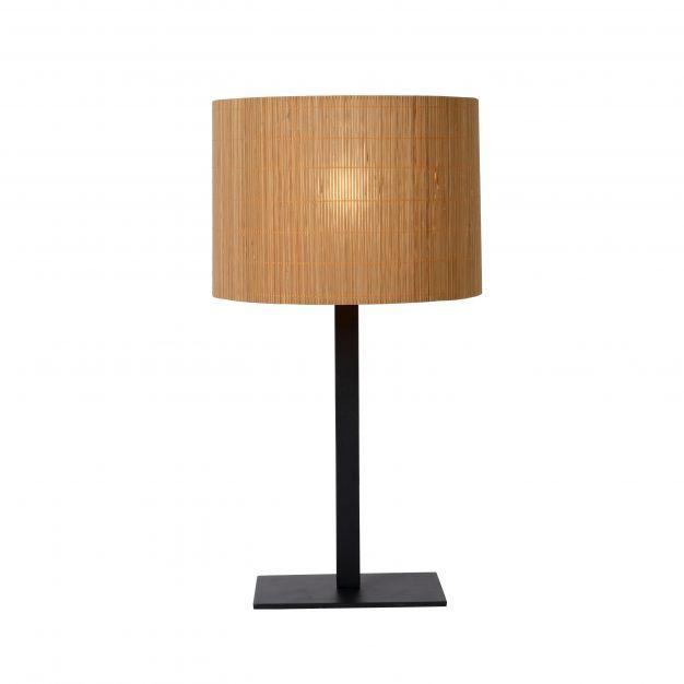 Lucide Magius - tafellamp - Ø 28 x 52 cm - lichtbruin en zwart