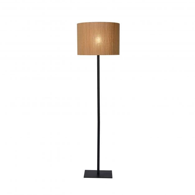 Lucide Magius - staanlamp - 156,5 cm - lichtbruin en zwart