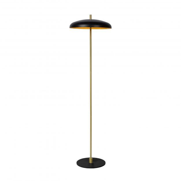 Lucide Elgin - staanlamp - 145 cm - zwart en goud