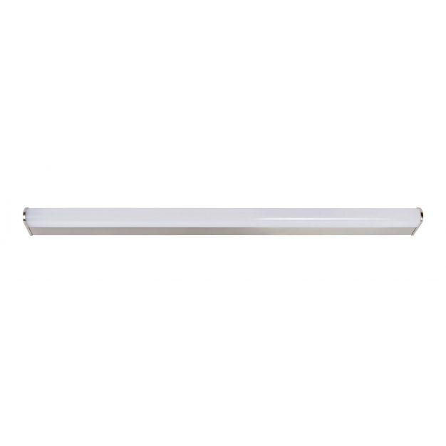 Lucide Jasper - wandlamp badkamer - 89 cm - 21W LED incl. - IP44 - mat chroom