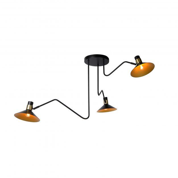 Lucide Pepijn - plafondverlichting - Ø 108 x 51 cm - zwart