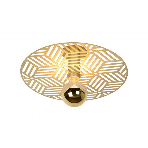 Lucide Olenna - plafondverlichting - Ø 40 x 12 cm - mat goud