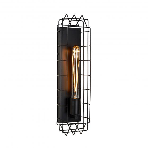 Lucide Lattice - wandverlichting - 50 x 13,7 x 10 cm -zwart