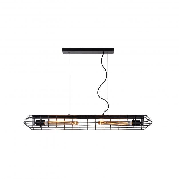 Lucide Lattice - hanglamp - 100 x 12 x 134 cm - zwart