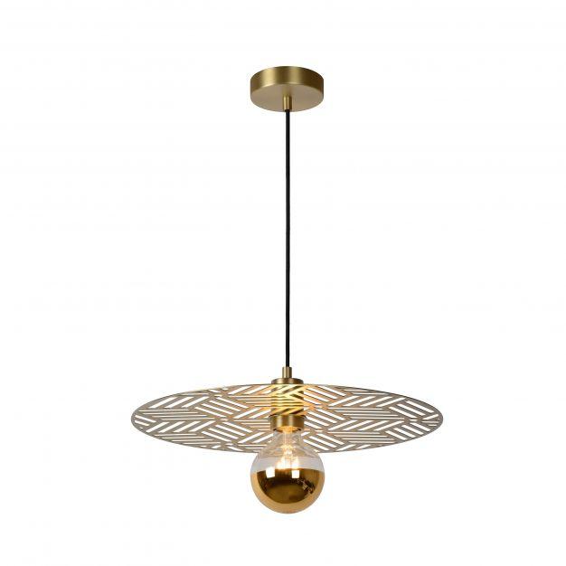 Lucide Olenna - hanglamp - Ø 40 x 143 cm - mat goud