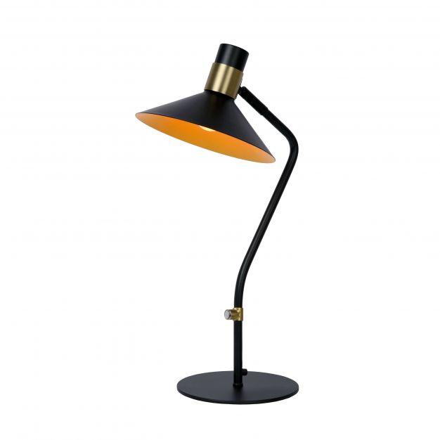 Lucide Pepijn - tafellamp - 16 x 23 x 45 cm - 3 stappen dimbaar - zwart
