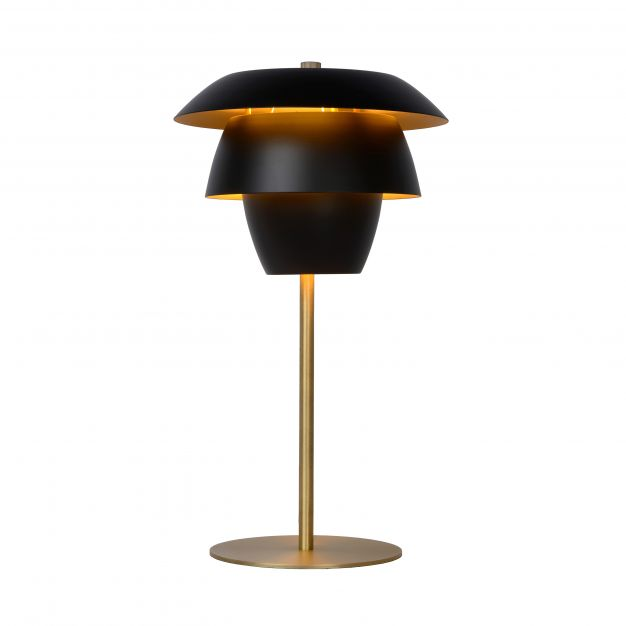 Lucide Jericho - tafellamp - Ø 26,5 x 48,5 cm - zwart