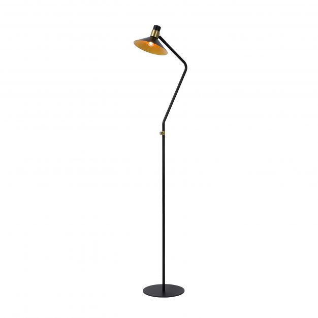 Lucide Pepijn - staanlamp - 145 cm - 3 stappen dimbaar - zwart