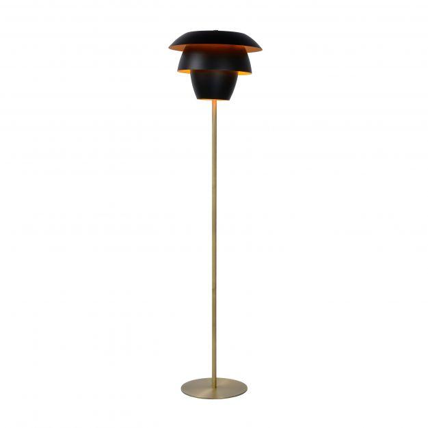 Lucide Jericho - staanlamp - 149,5 cm - zwart