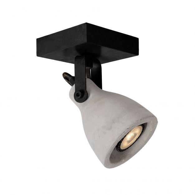 Lucide Concri-Led - opbouwspot 1L - 10 x 10 x 18 cm - 5W dimbare LED incl. - zwart