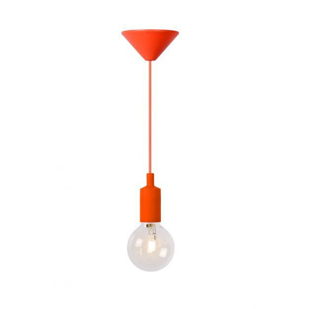 Lucide Fix - hanglamp - Ø 10 x 120 cm - 42W dimbare halogeen incl. - oranje (op=op!)