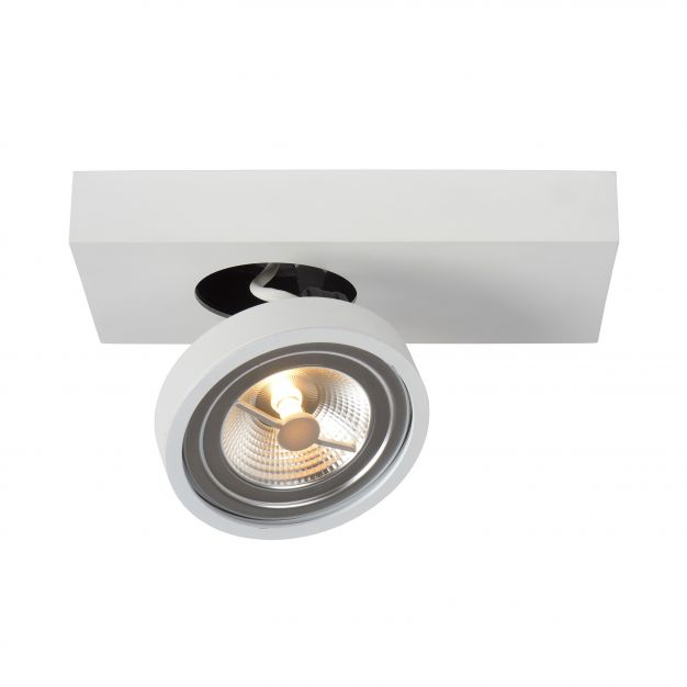 Lucide Nenad AR111 - opbouwspot 1L - 12 x 15 x 8 cm - 10W dimbare LED incl. - wit