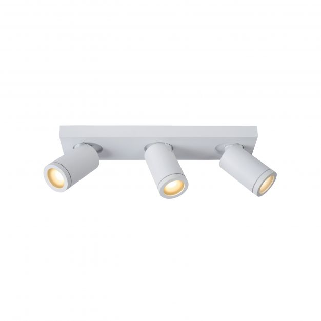 Lucide Taylor - opbouwspot 3L - 38 x 10 x 12,5 cm - 3 x 5W dimbare LED incl. - dim to warm - IP44 - wit