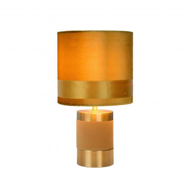 Lucide Extravaganza Frizzle - tafellamp - Ø 18 x 32 cm - geel