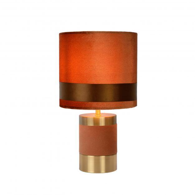 Lucide Extravaganza Frizzle - tafellamp - Ø 18 x 32 cm - bruin