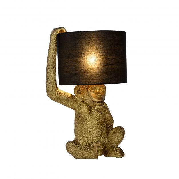 Lucide Extravaganza Chimp - tafellamp - Ø 30 x 45 cm - zwart en goud