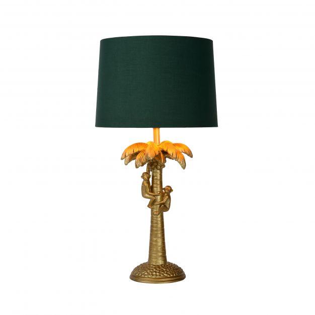 Lucide Extravaganza Coconut - tafellamp - Ø 30,5 x 50 cm - mat goud en groen