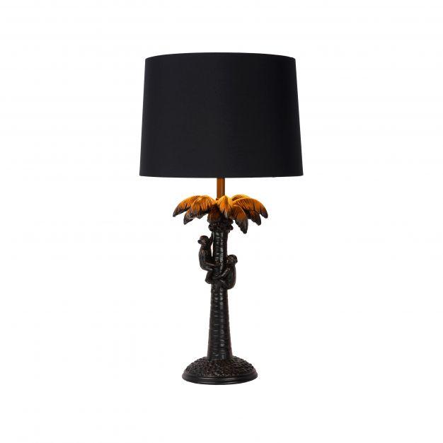 Lucide Extravaganza Coconut - tafellamp - Ø 30,5 x 50 cm - zwart