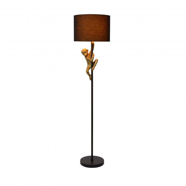 Lucide Extravaganza Chimp - staanlamp - 150 cm - zwart en goud