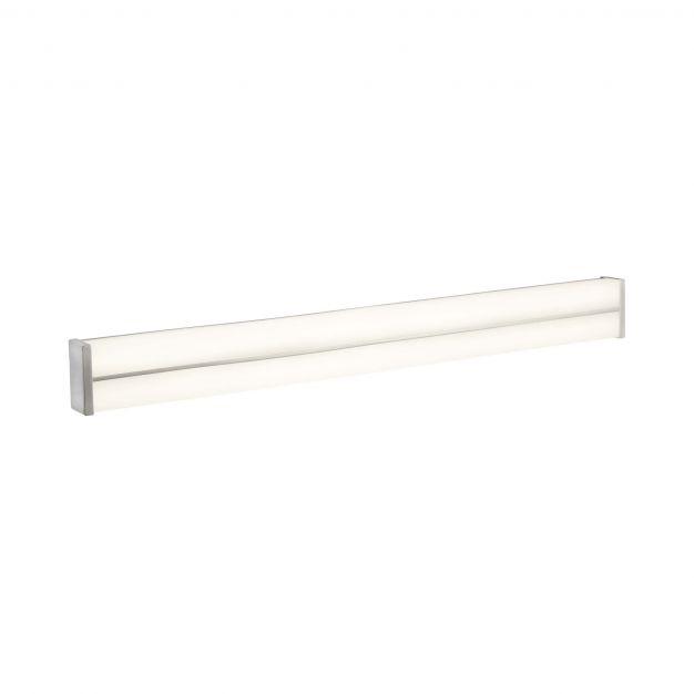 Searchlight Bathroom - spiegellamp - 60 x 6,5 cm - 18W LED incl. - IP44 - wit en chroom