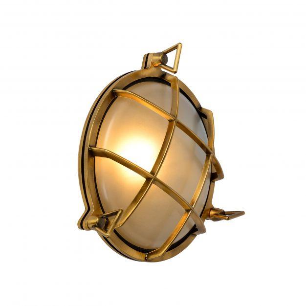 Lucide Dudley - buiten wandverlichting - Ø 25 x 11 cm - IP65 - mat goud