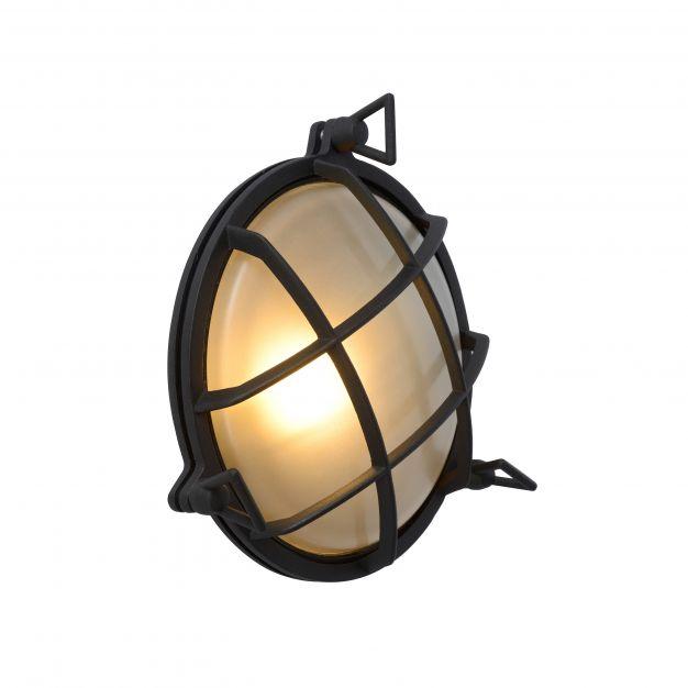 Lucide Dudley - buiten wandverlichting - Ø 25 x 11 cm - IP65 - zwart