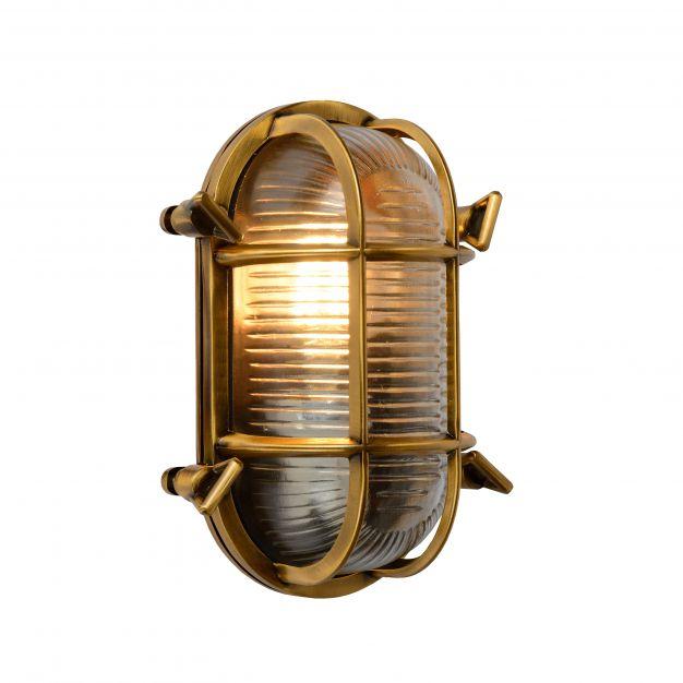 Lucide Dudley - buiten wandverlichting - 14 x 10 x 20 cm - IP65 - mat goud