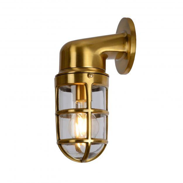 Lucide Dudley - buiten wandverlichting - 10 x 18 x 25 cm - IP44 - mat goud