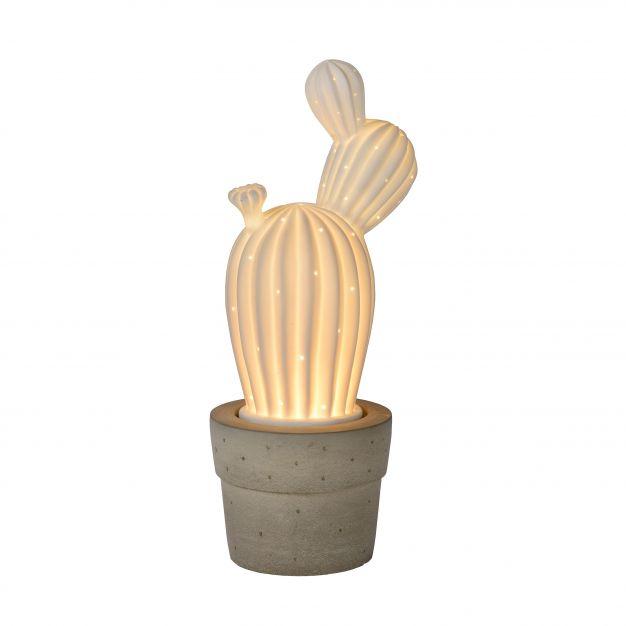 Lucide Cactus - tafellamp - 33 cm - wit
