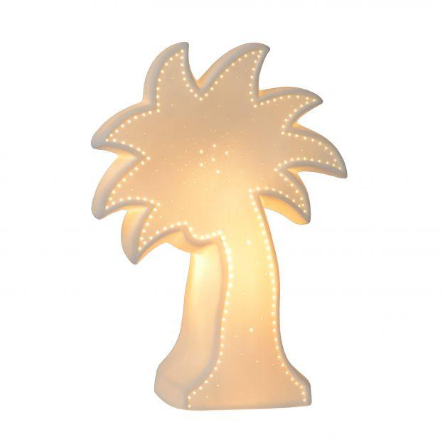 Lucide Palm - tafellamp - 26 cm - wit