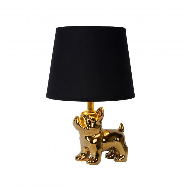 Lucide Extravaganza Sir Winston - tafellamp - Ø 21 x 31,5 cm - zwart en goud