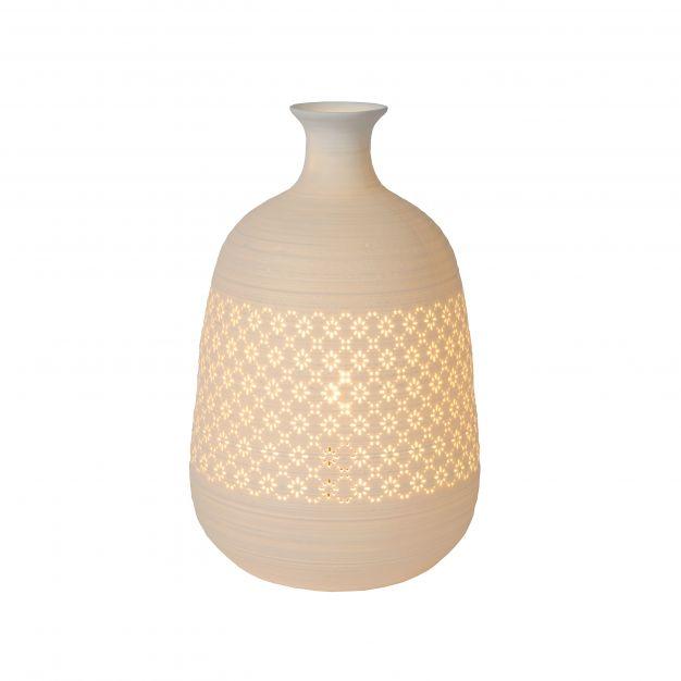 Lucide Tiesse - tafellamp - Ø 18,6 x 29,8 cm - wit