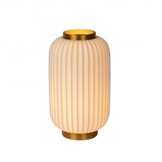 Lucide Gosse - tafellamp - Ø 19,7 x 33,7 cm - wit