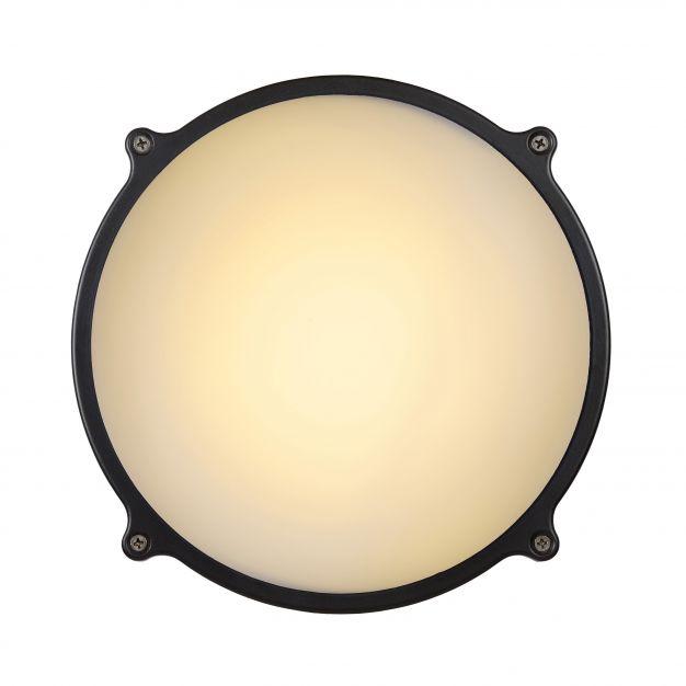 Lucide Hublot LED - buiten wand/plafondlamp - Ø 24,5 x 8 cm - 20W LED incl. - IP65 - grijs