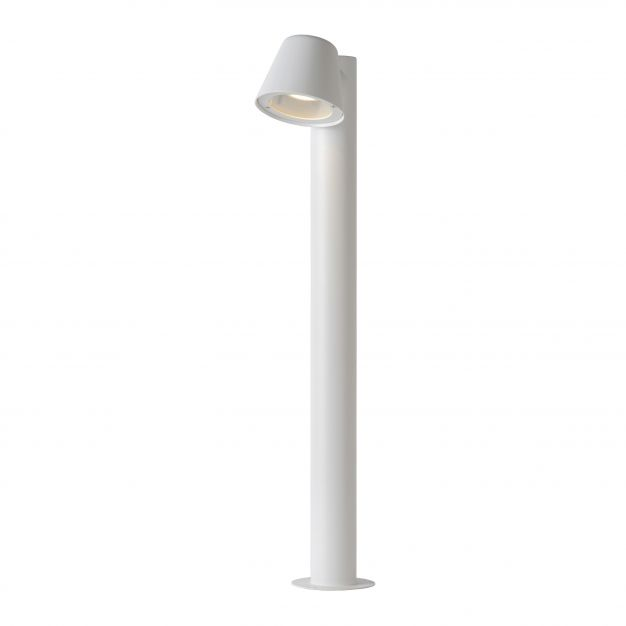 Lucide Dingo LED - tuinpaal - 18 x 70 x 11 cm - 5W dimbare LED incl. - IP44 - wit