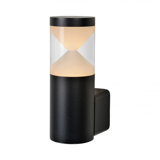 Lucide Teo LED - buiten wandverlichting - 12 x 20 x 8 cm - 7W LED incl. - IP54 - zwart