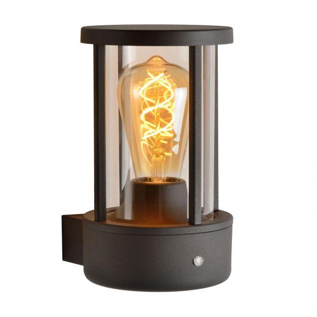 Lucide Lori - buiten wandverlichting - 12 x 21 x 14 cm - IP44 - zwart