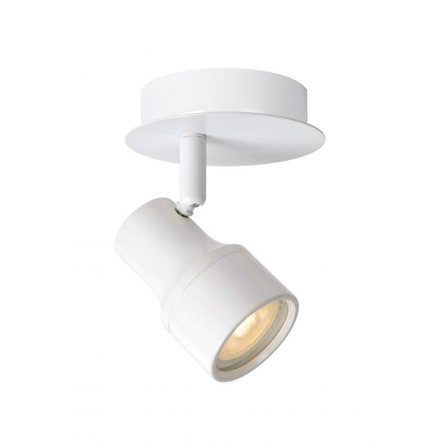 Lucide Sirene 1 - opbouwspot - 10 x 14 x 10 cm - 4,5W dimbare LED incl. - IP44 - wit