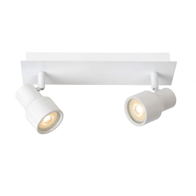 Lucide Sirene-led - opbouwspot - 28 x 8 x 14 cm - 2 x 4,5W dimbare LED incl. - IP44 - wit