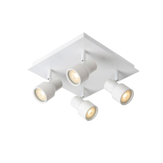 Lucide Sirene - opbouwspot - 25 x 25 x 14 cm - 4 x 4,5W dimbare LED incl. - IP44 - wit